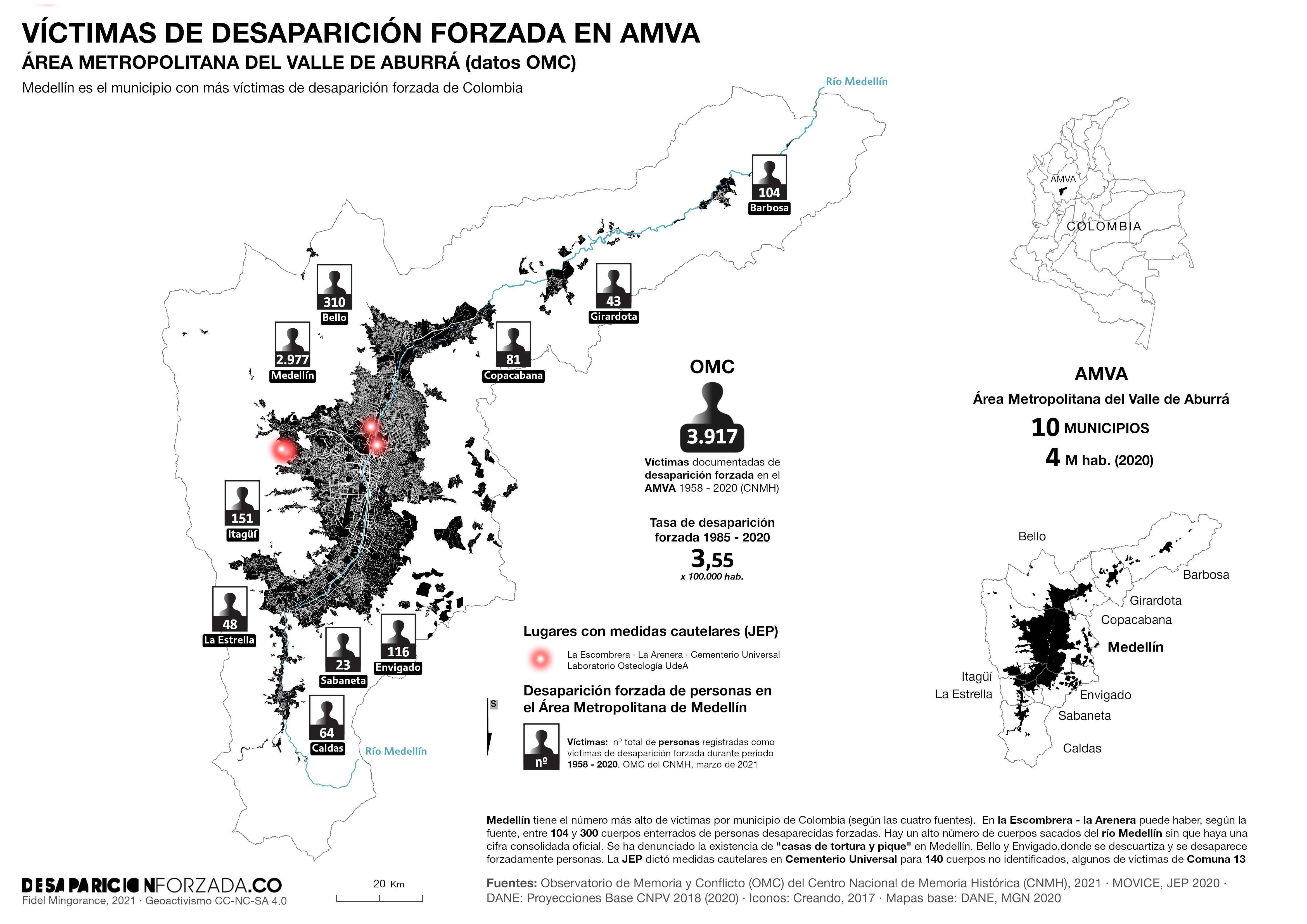 Victimas desaparicion forzada AMVA