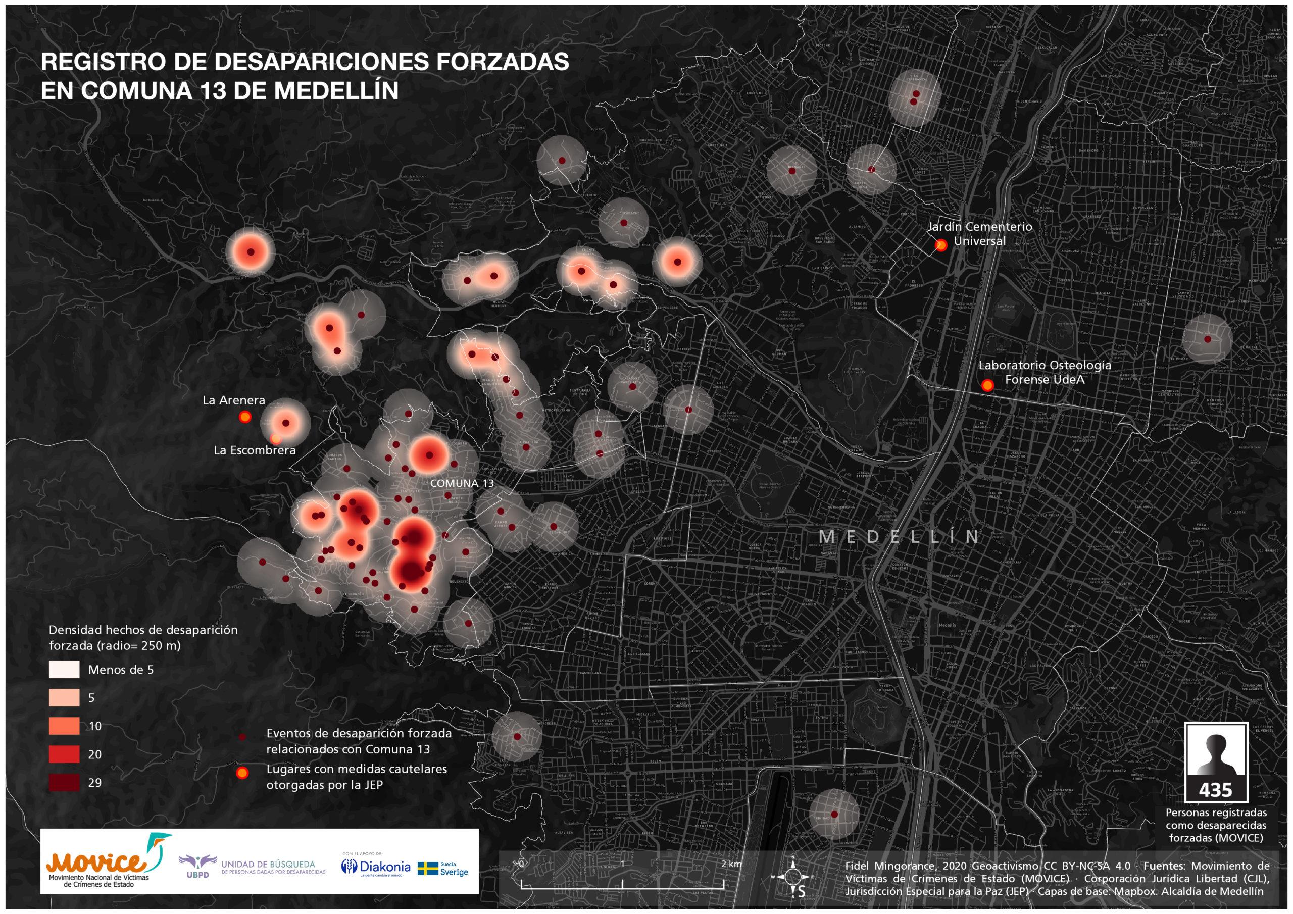 registro desapariciones forzadas Comuna 13
